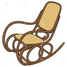 Wooden Rocking Chair Hand Drawing Of Old Wooden Rocking Chair Royalty Free Cliparts