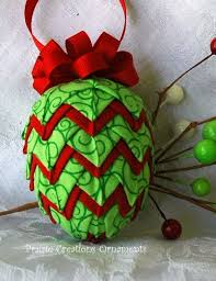 183 best no sew quilted ornaments images on folded