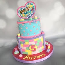 lego friends themed cake for my baby auroras 5th birthday