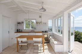 Kitchen Table Contemporary by White Beach House Kitchen Kitchen Beach Style With Simple Kitchen