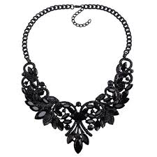 black necklace images Tarana black necklace statement necklaces india edgability png