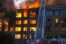 massive 10 alarm fire destroys apartment complex in downtown