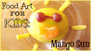 food art for kids mango sun youtube