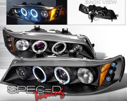 97 honda accord lights specd black halo led projector headlights honda accord 94 97