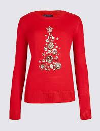 christmas tree jumper with lights embellished christmas tree novelty jumper m s collection m s