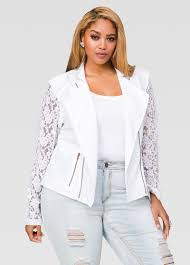 moto jacket lace moto jacket plus size motorcycle jacket ashley stewart 027