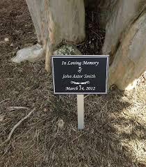 outdoor memorial plaques 6x8 exterior dedication memorial lawn or garden sign with stake