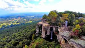 Rock City Gardens Chattanooga Lookout Mountain S Rock City And Ruby Falls An Aerial
