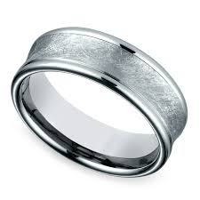 white gold mens wedding rings concave swirl s wedding ring in white gold
