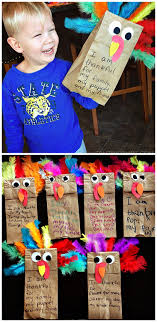 paper bag turkey puppets thanskgiving craft crafty morning
