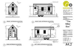 Interior House Drawing Miter Box Tiny House Plans Padtinyhouses Com