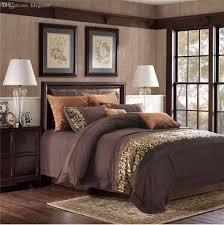 Chocolate Bed Linen - wholesale unique bedroom set 100 cotton dark coffee color