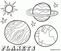 9 planets coloring pages