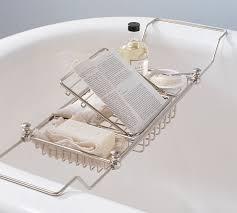 bronze bathtub caddy mercer bathtub caddy pottery barn with tray idea 11 weliketheworld com