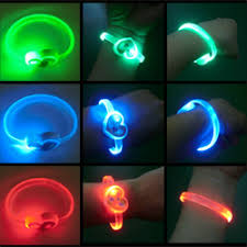 b6 008 led light up bracelet with oval charm led ornaments