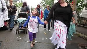 salem zombie walk on boardman street in salem town