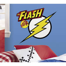 roommates 5 in x 19 in classic flash logo peel and stick giant classic flash logo peel and stick giant wall