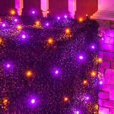 Led Lights Halloween 4 U0027 X 6 U0027 Halloween Led Net Lights 100 Purple Orange Lamps