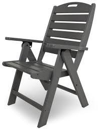Adirondack Chairs Plastic Amazon Com Polywood Nch38gy Nautical Highback Chair Slate Grey