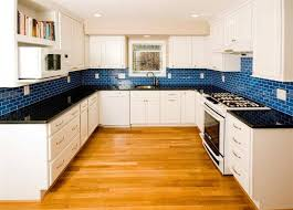 white kitchen cabinets with blue subway tile white kitchen blue subway tile backsplash home design ideas