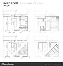 the architectural plan the layout of the apartment with the