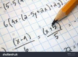 Writing On Graph Paper Math Problems On Graph Paper Pencil Stock Photo 172115972