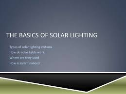 Solar Lights How Do They Work - solar powered infrastructure lighting