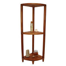 Corner Bathroom Stand Aqua Teak Spa Teak Corner Shower Caddy Master Bath Pinterest