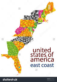 Usa Map Vector by Usa East Coast Vector Map At Maps