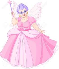 smiling fairy godmother holding magic wand royalty free cliparts