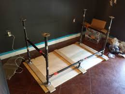 pipe desk frame muallimce