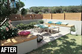 Raised Garden Bed With Bench Seating Create A Corner Courtyard Australian Handyman Magazine