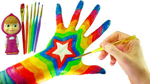 Color Painting by Learn Colors With Color Hand Body Paint Top Rainbow Colors