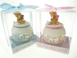shower party favor boy or girl teddy honey jar coin bank
