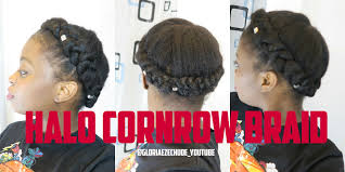 red cornrow braided hair diy how to halo crown cornrow braid on natural hair