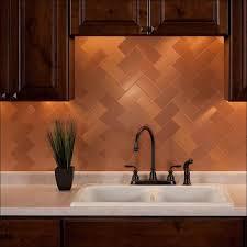 Copper Tile Backsplash For Kitchen - kitchen room fabulous copper tile backsplash fasade copper