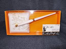 studio his and hers ornate white wedding guest book registry pen studio his hers new