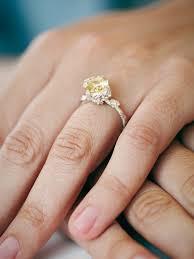 desiree ring free nora kogan womens desiree ring in yellow lyst