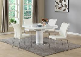 chintaly nora dining white 5 piece dining set beyond stores chintaly nora dining white 5 piece dining set