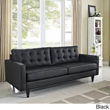 empress tufted bonded leather sofa free shipping today