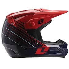 one motocross gear one industries atom lazr navy red helmet at mxstore
