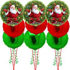 santa balloon delivery 3 x bouquet of 3 jolly santa helium balloons balloons co uk