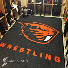 logo locker room carpet mats