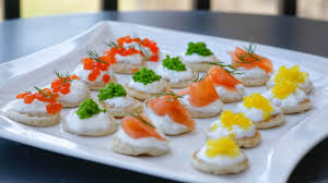 canapé cocktail four cocktail blini canapé ideas food specialist