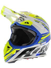 motocross helmet with visor airoh blue white yellow 2015 aviator 2 1 carbon kev lar van