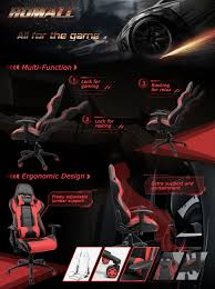Rocking Gaming Chair Amazon Com Homall Executive Swivel Leather Gaming Chair Racing