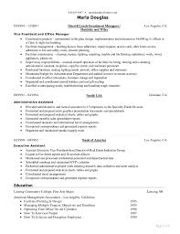Sample Resume For Administrative Assistant Office Manager by Resume Of Marla Douglas Office Manager U0026 Executive Assistant