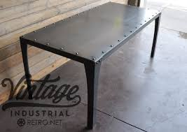 Metal Conference Table with Hand Crafted Simple Metal Conference Table By Vintage Industrial