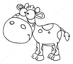outlined baby cow u2014 stock photo hittoon 4724125