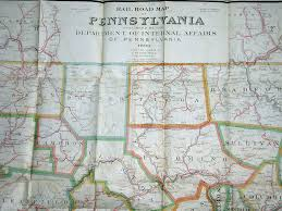 Map O An Overview Of Pennsylvania Mapping Circa 1850 To 1900